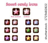vector sweet candy icons set.... | Shutterstock .eps vector #1725682822