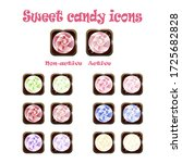 vector sweet candy icons set....
