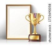 3d realistic vector golden... | Shutterstock .eps vector #1725690058