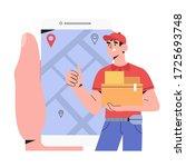 online food or package free... | Shutterstock .eps vector #1725693748