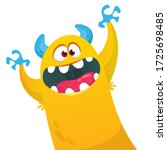 Funny Cartoon Monster Creature...