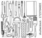 Big Set Of Stationery Elements. ...