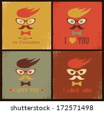 hipster face retro card. happy...   Shutterstock .eps vector #172571498