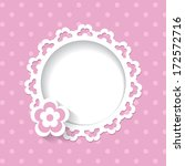baby shower for a girl  a... | Shutterstock .eps vector #172572716