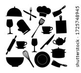 vector set of household... | Shutterstock .eps vector #1725748945
