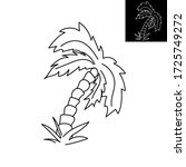palm  outline icon on white...   Shutterstock .eps vector #1725749272
