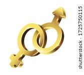 3d realistic vector golden sign ... | Shutterstock .eps vector #1725750115