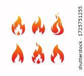 fire burnt aset vector free... | Shutterstock .eps vector #1725751255