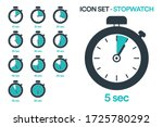 stopwatch icon set for sports...   Shutterstock .eps vector #1725780292