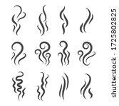 smoke steam silhouette icon...   Shutterstock .eps vector #1725802825