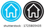 home button house simple web... | Shutterstock .eps vector #1725805435