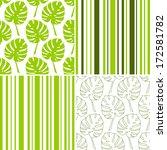 set of vector tropical seamless ... | Shutterstock .eps vector #172581782