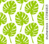 vector tropical seamless floral ... | Shutterstock .eps vector #172581815