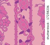 seamless hawaiian turtle... | Shutterstock .eps vector #17258236