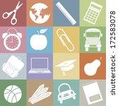 school icons  | Shutterstock .eps vector #172583078