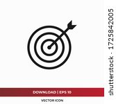target icon vector. goal sign | Shutterstock .eps vector #1725842005
