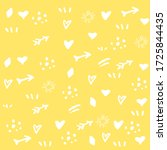 yellow background with white... | Shutterstock .eps vector #1725844435