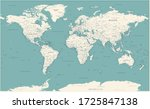 world map vintage political  ... | Shutterstock .eps vector #1725847138
