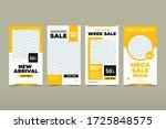 set of editable banner... | Shutterstock .eps vector #1725848575