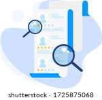 modern flat business recruiters ...   Shutterstock .eps vector #1725875068