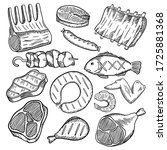 vector hand drawn illustration... | Shutterstock .eps vector #1725881368