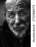 Homeless Old Man Portrait