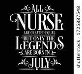 all nurse are created equal but ...   Shutterstock .eps vector #1725887548