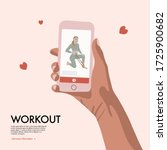 people with smartphone training ... | Shutterstock .eps vector #1725900682
