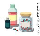 simple medicine bottles.jar...   Shutterstock .eps vector #1725907918