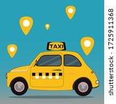 vector concept of a yellow taxi ...   Shutterstock .eps vector #1725911368