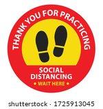 social distancing  maintain... | Shutterstock .eps vector #1725913045