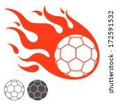 handball. logo. vector... | Shutterstock .eps vector #172591532