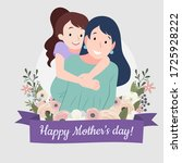 happy mother's day  mother and... | Shutterstock .eps vector #1725928222