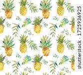 Watercolor Pineapple Seamless...