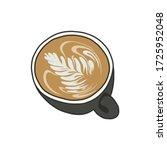 coffee latte art doodle icon ...   Shutterstock .eps vector #1725952048