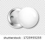 realistic white blank badge. 3d ... | Shutterstock .eps vector #1725955255