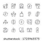 set of energy related vector... | Shutterstock .eps vector #1725965575