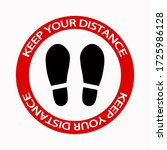 keep distance sign. coronovirus ... | Shutterstock .eps vector #1725986128