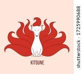 vector illustration of kitsune... | Shutterstock .eps vector #1725990688