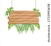 wooden hanging with tropical... | Shutterstock .eps vector #1725993658