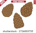 Pine Cones. Vector Of Pine...