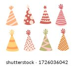party hat set with different...   Shutterstock .eps vector #1726036042