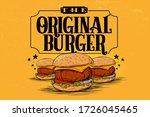 Original Burger Poster Vector...