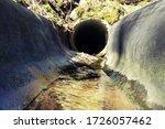 Drainage Concrete Ditch Near...