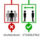 maintain social distancing and... | Shutterstock .eps vector #1726061962