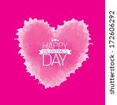 valentine day love beautiful... | Shutterstock .eps vector #172606292
