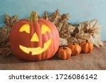 Happy Halloween Pumpkin With A...