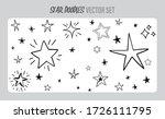 star doodles set. hand drawn... | Shutterstock .eps vector #1726111795