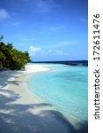 beautiful beach in the maldives | Shutterstock . vector #172611476