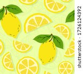seamless summer pattern with... | Shutterstock .eps vector #1726124392